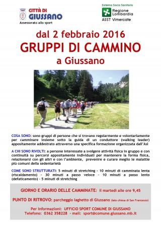 Gruppi di cammino Giussano